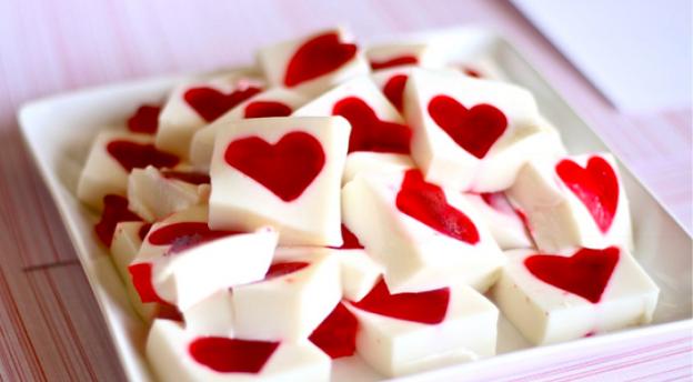 corazones gominola